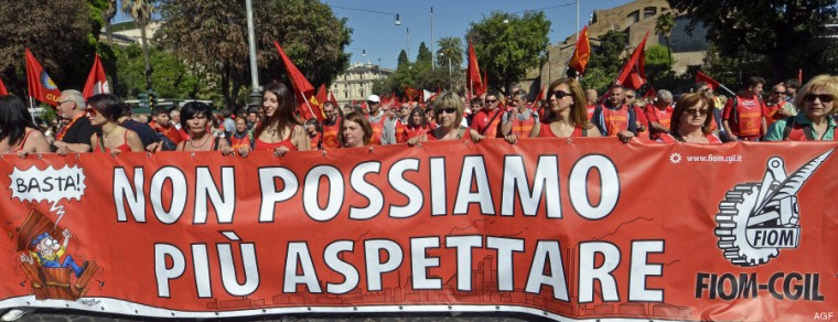 18/05/2013 Roma. Manifestazione nazionale della FIOM